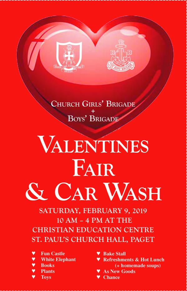 Valentine's Fair and Car Wash Bermuda Jan 30 2019