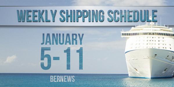 Weekly Shipping Schedule TC Jan 5 - 11 2019