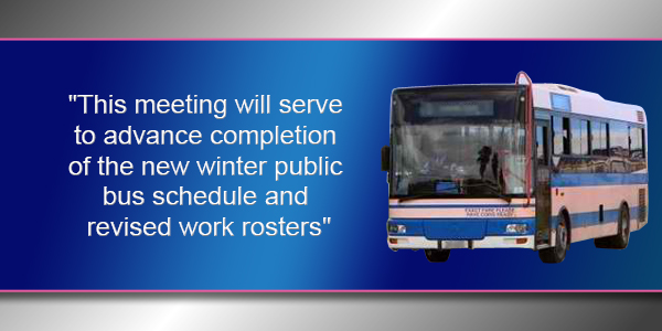 Bus Service TC Feb 12 2019
