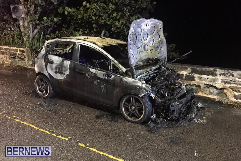 Car Fire Bermuda, February 27 2019