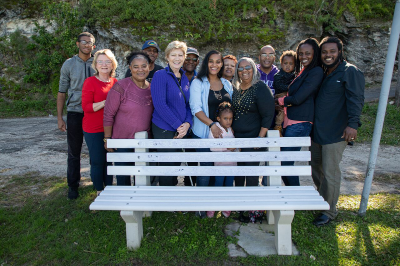 Eugene's bench family & friends Bermuda Feb 2019 (1)