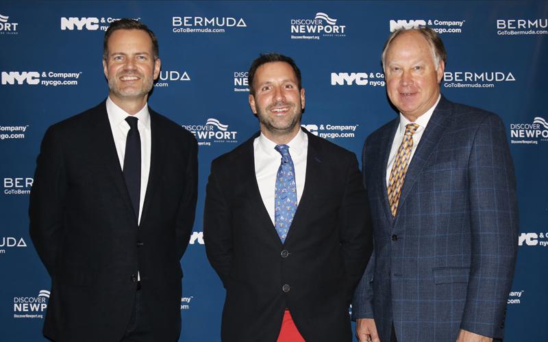 Fred Dixon, Kevin Dallas and Evan Smith Bermuda Feb 2019