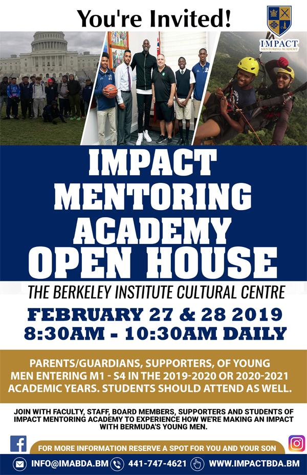 Impact Mentoring Academy Open House Bermuda Feb 2019