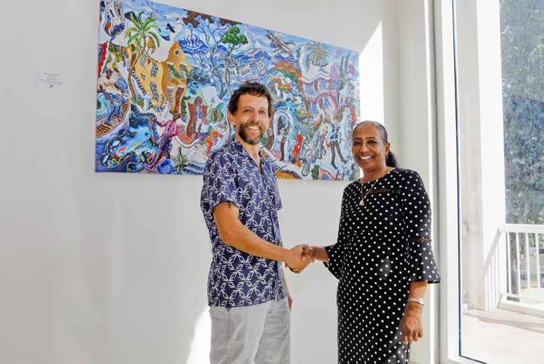 Minister with Graham Foster Bermuda Feb 2019