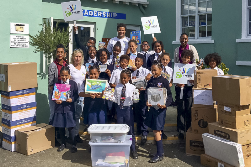 Support Public Schools Team Delivering Supplies Bermuda, February 27 2019-08-6