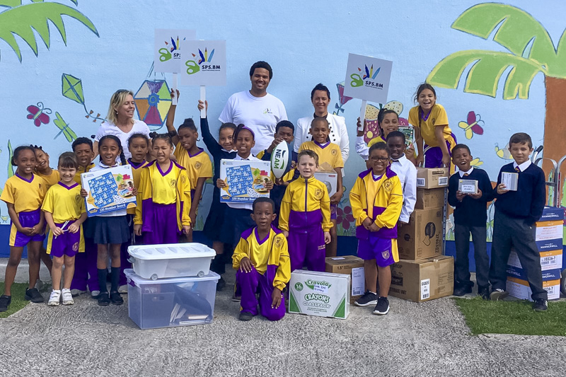 Support Public Schools Team Delivering Supplies Bermuda, February 27 2019-08-7