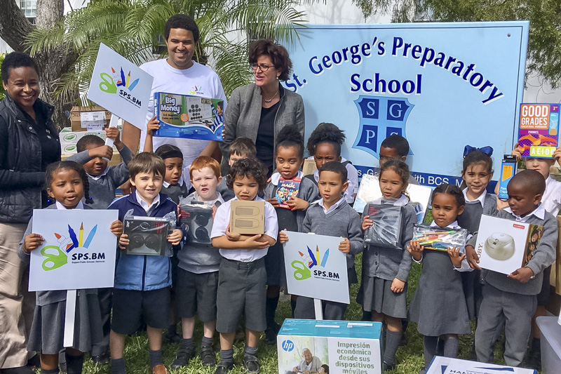 Support Public Schools Team Delivering Supplies Bermuda, February 27 2019-08-8