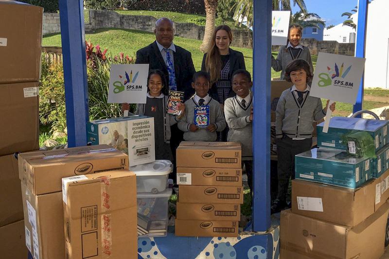 Support Public Schools Team Delivering Supplies Bermuda, February 27 2019-08