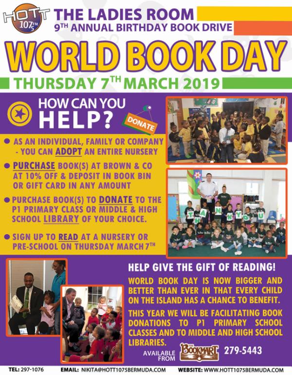 World Book Day Bermuda March 2019