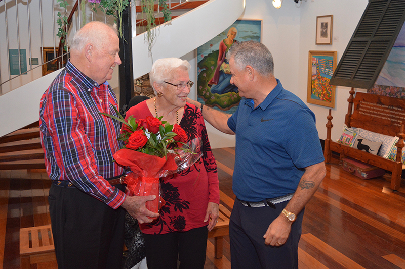 loyal Bermuda visitors Feb 14 2019 Flower Presentation