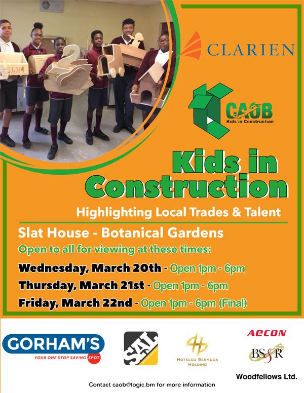 Kids in Construction Bermuda March 2019