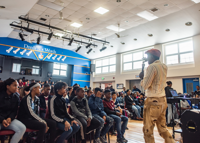 Marcus Samuelsson assembly at Dellwood Middle School, Bermuda March 2019 (2)