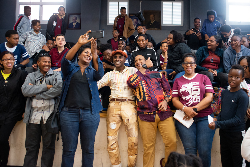 Marcus Samuelsson assembly at Dellwood Middle School, Bermuda March 2019 (5)