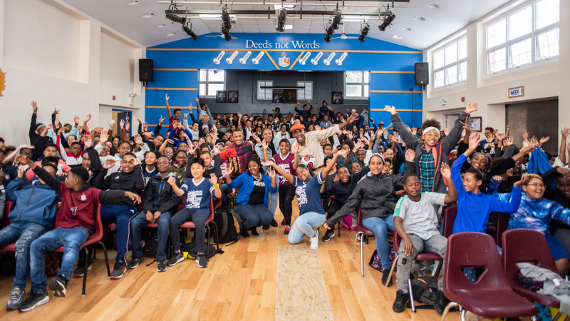Marcus Samuelsson assembly at Dellwood Middle School, Bermuda March 2019 (8)