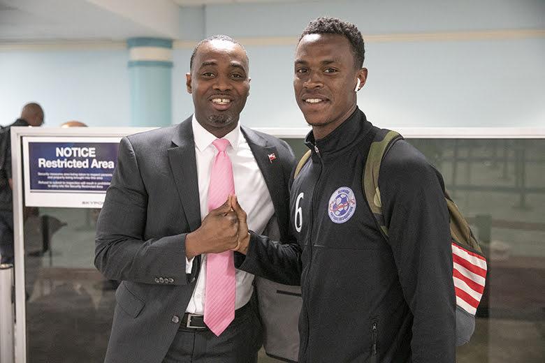 Men's National Football Team Returns Home Bermuda March 2019 (2)