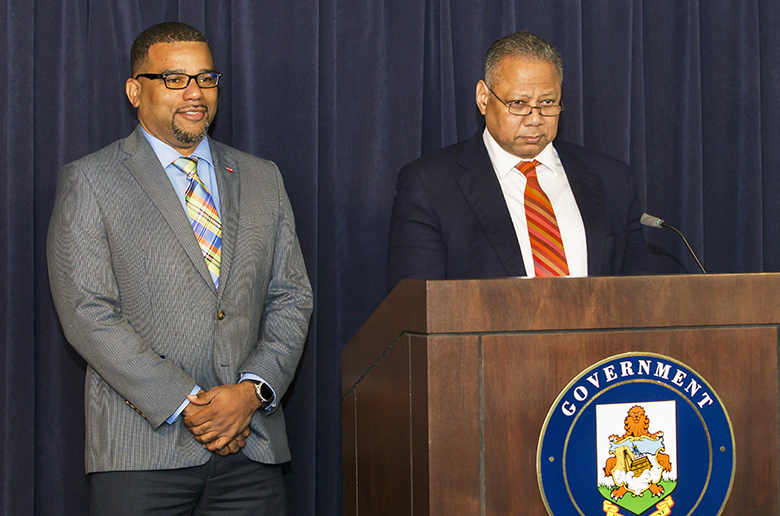 Minister Brown & Minister Rabain Bermuda March 2019