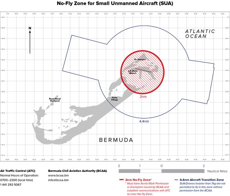 SUA Communication Zone Map Bermuda March 18 2019