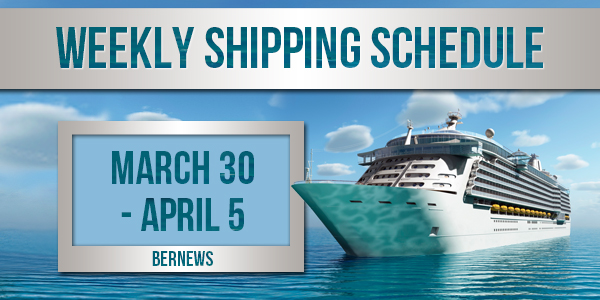 Weekly Shipping Schedule TC March 30 - April 5 2019