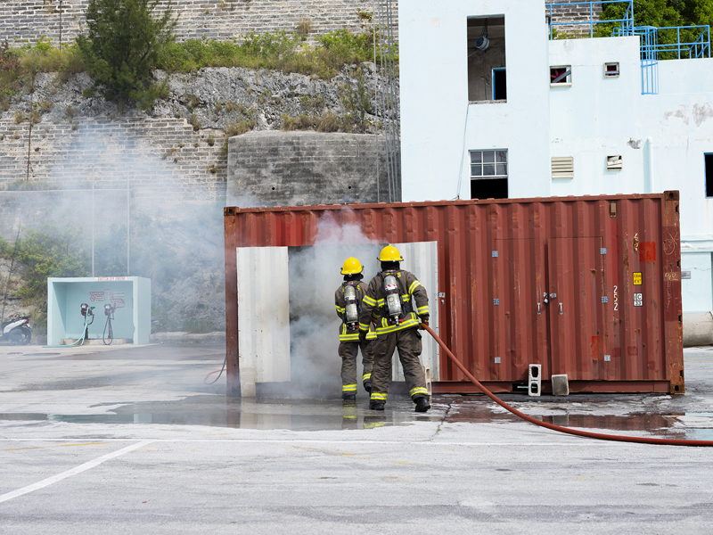 AIRCARE Sprinkler System Demonstration Bermuda April 2019