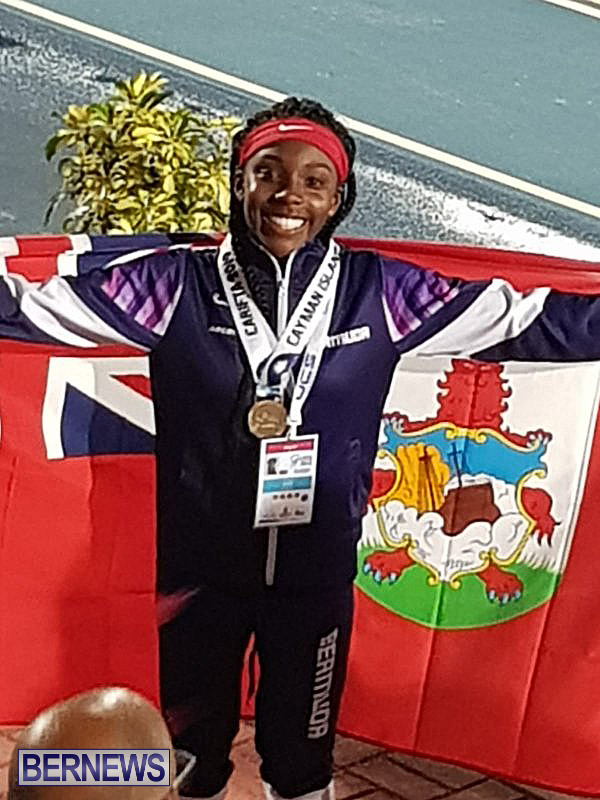 Caitlyn Bobb Gold Bermuda flag 1, April 20 2019