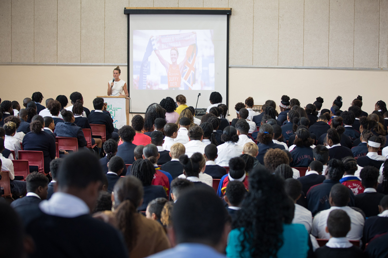 Flora Duffy at Dellwood School Bermuda April 2019 (2)