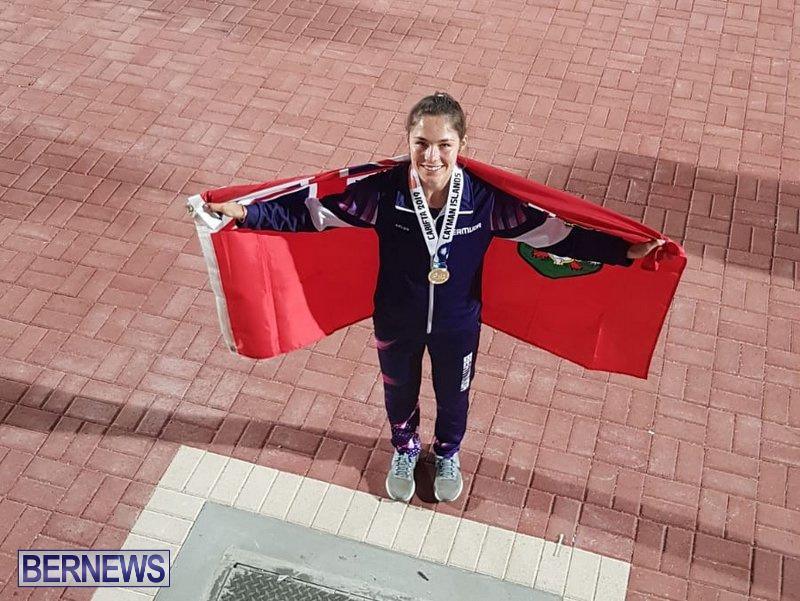 Isabelle Dutranoit CARIFTA Games Bermuda Flag, April 22 2019