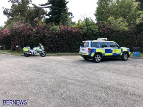 Police at Hog Bay Park Bermuda April 2019