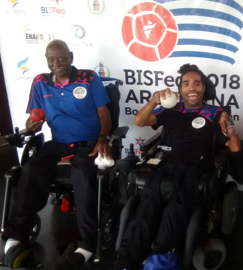 Steve Wilson and Omar Hayward Bermuda April 2019