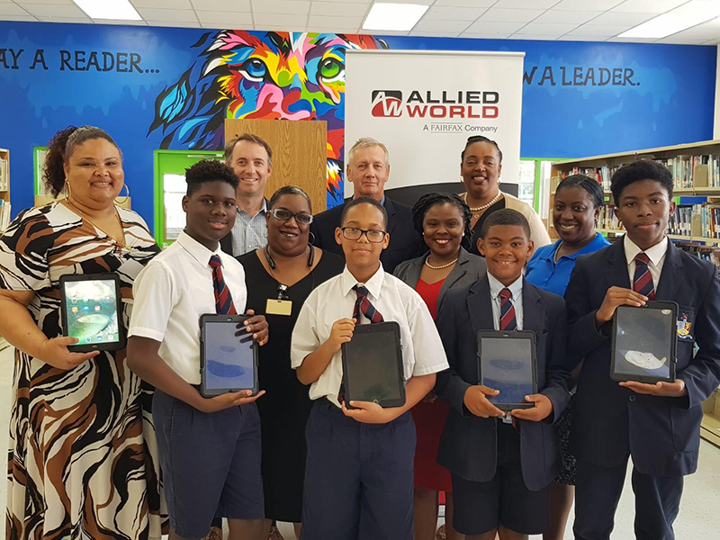 Allied World Visits Dellwood Middle School