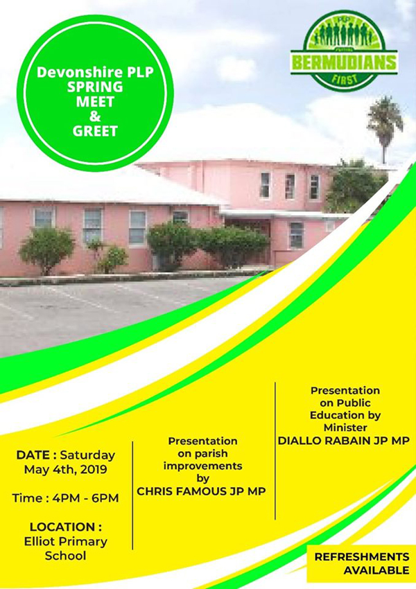 Devonshire PLP Meet and Greet Bermuda May 2019