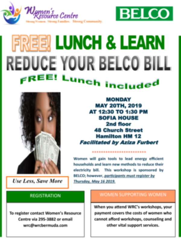 Lunch & Learn Reduce Your BELCO Bill Bermuda May 2019