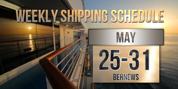 Weekly Shipping Schedule TC May 25 - 31 2019