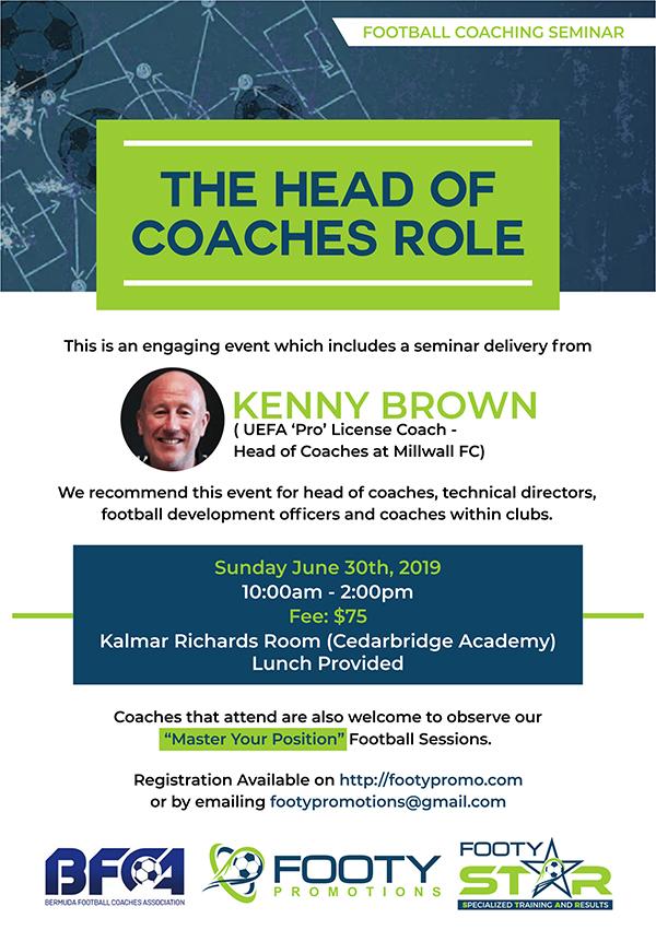 Head Of Football Coaches Workshop Bermuda June 2019