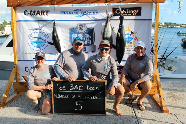 Second Placed Team Bermuda Anglers Club June 2019
