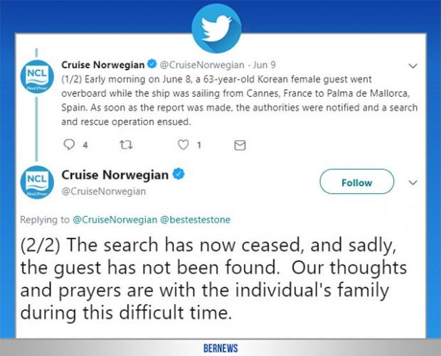 cruise norwegian tweet Bermuda June 12 2019