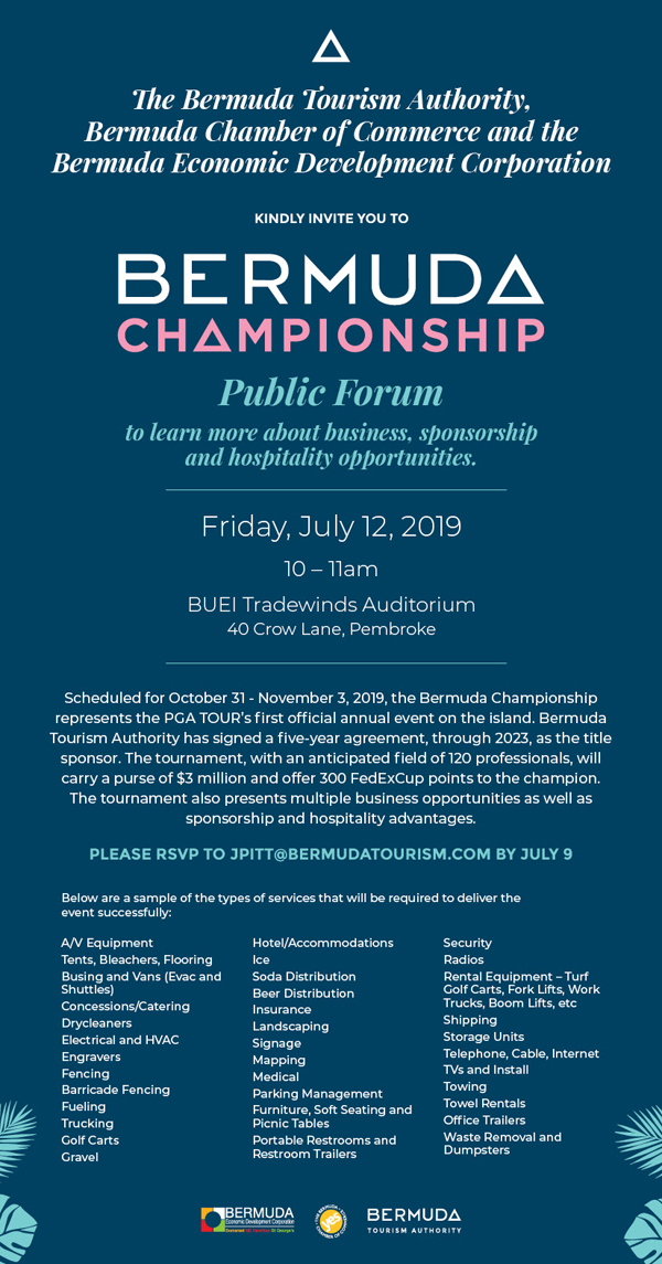 Bermuda Championship Public Forum July 2019