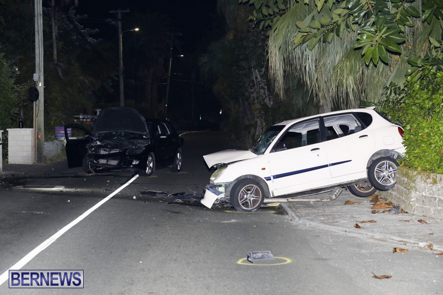 Car Collision Paget Bermuda, July 14 2019 (1)
