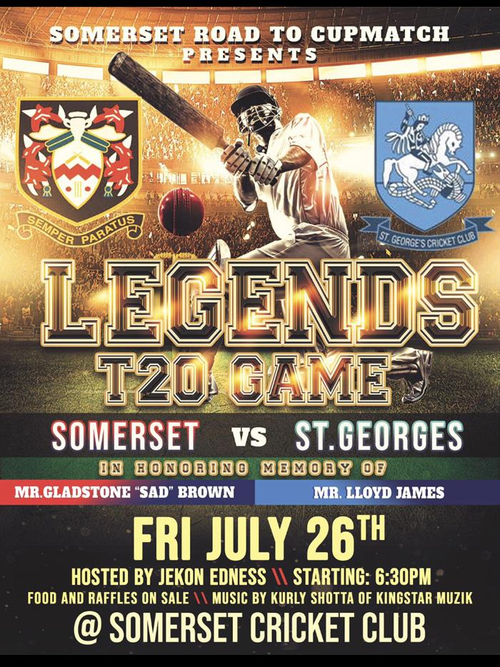 Cup Match Legends T20 game Bermuda July 2019