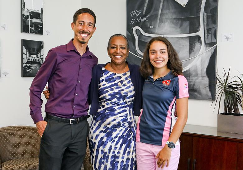 Minister Foggo With Natwest Games Team Bermuda July 2019 (2)