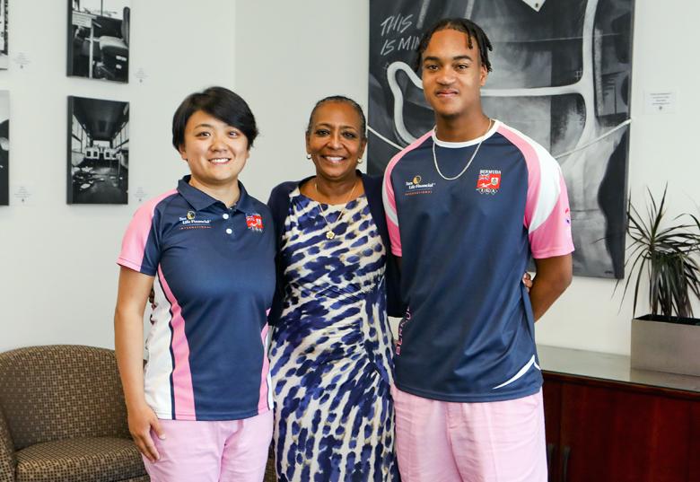 Minister Foggo With Natwest Games Team Bermuda July 2019 (4)