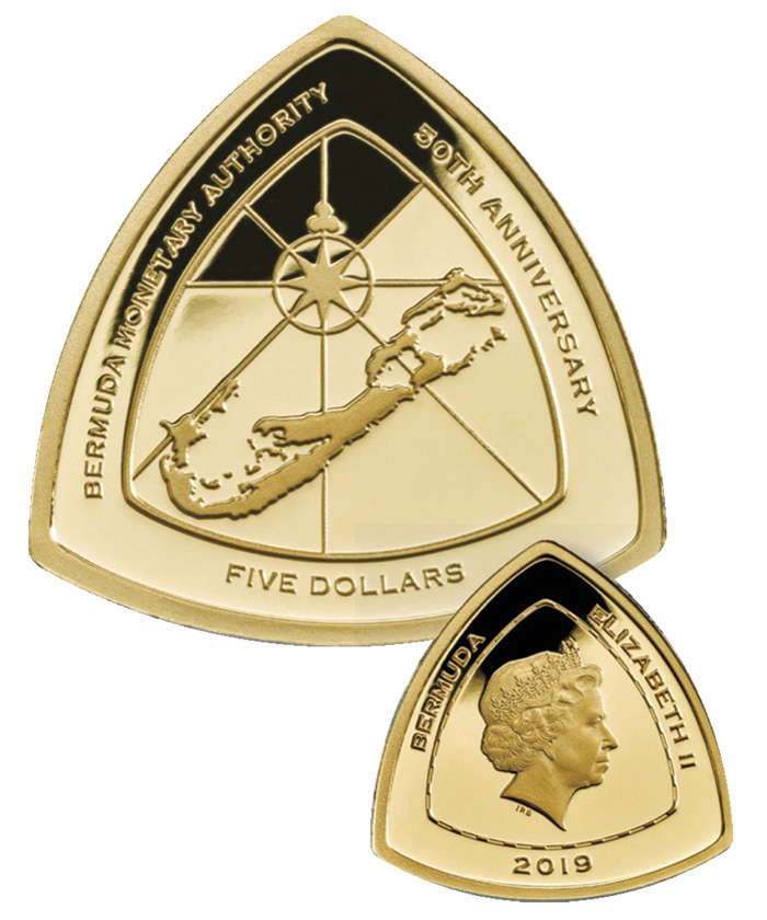 BMA 50th Gold Coin Bermuda August 2019
