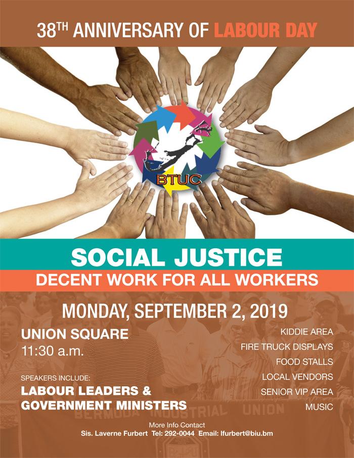 BTUC Labour Day March Bermuda August 2019