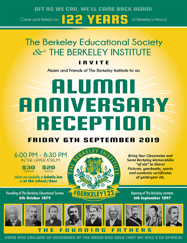 Berkeley Institute 2019 Alumni Anniversary Reception Bermuda Aug 2019