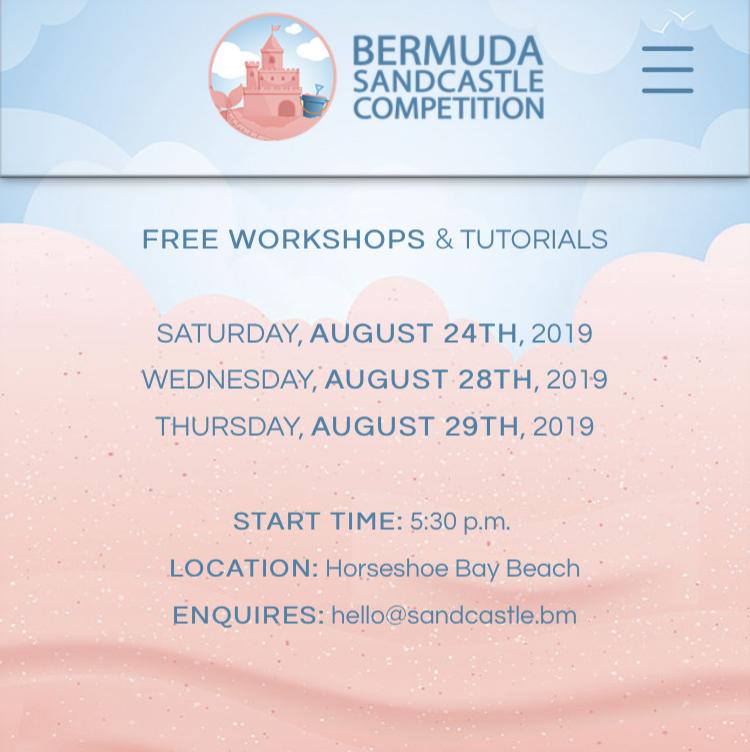 Bermuda Sandcastle Competition Aug 2019