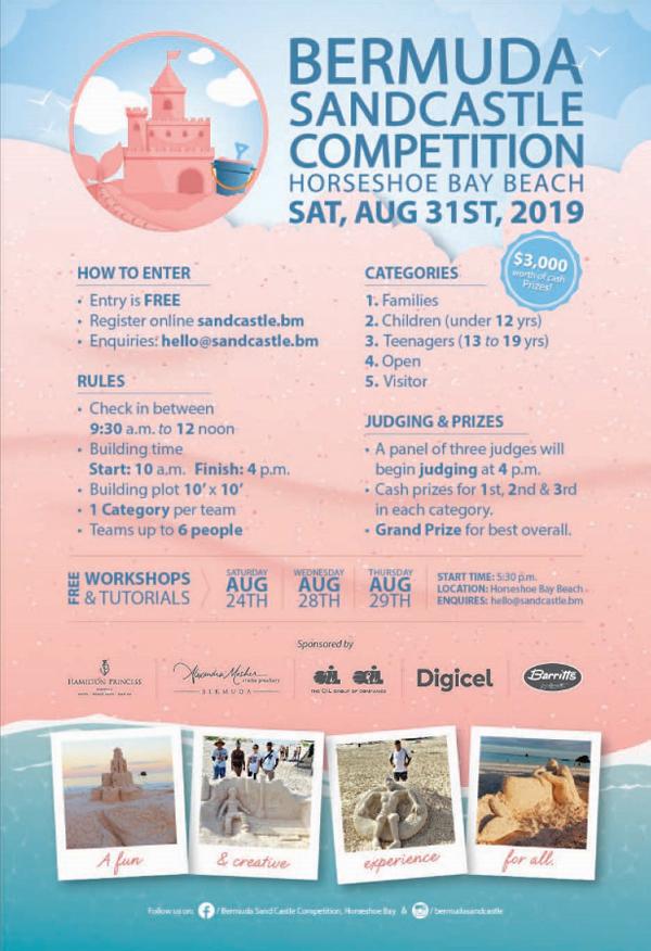 Bermuda Sandcastle Competition August 2019