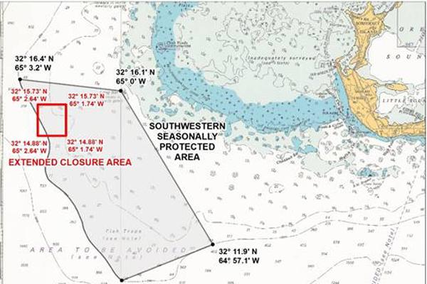 Fisheries Seasonally Protected Areas Bermuda Aug 2019