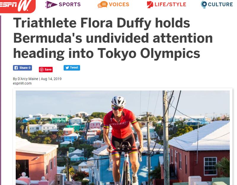 Flora Duffy Bermuda August 2019