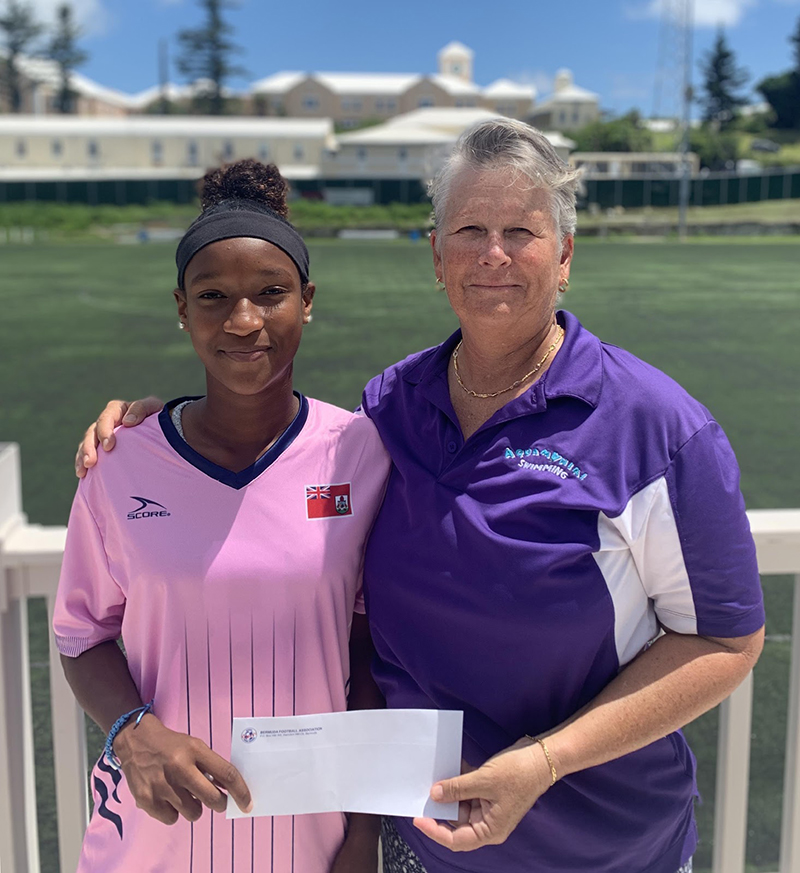 Lesley Cherry White Gives Back To Football Bermuda Aug 2019