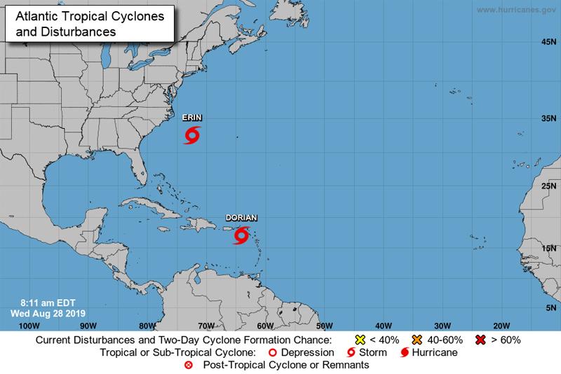 NHC Tropical Storm Erin Bermuda August 2019