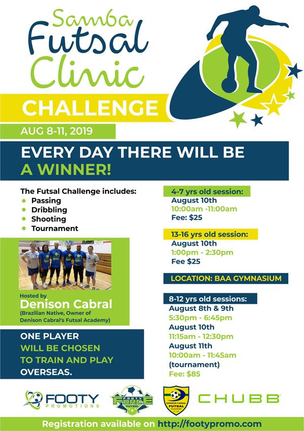 Samba Futsal Clinic Bermuda August 2019
